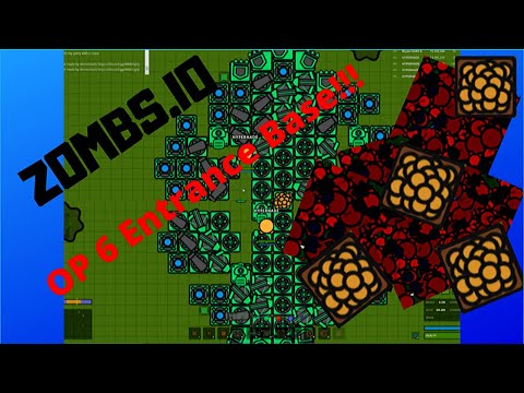 Zombs.io - INSANE 4 Player AFK Base Design With 6 Entrances