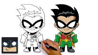 How To Draw Robin | Teen Titans