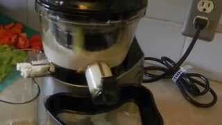 How to Make Almond Milk with a Vertical Slow Juicer, Omega VRT400, VSJ843, Tribest SlowStar, Kuvings