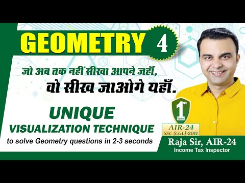 Geometry Part 4- Unique Visualisation Techinque to solve Geometry Questions in 2-3 seconds