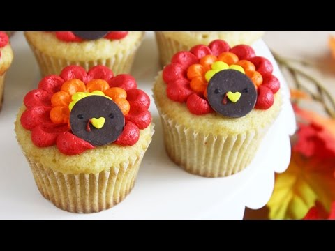 How to Make Thanksgiving Turkey Cupcakes!