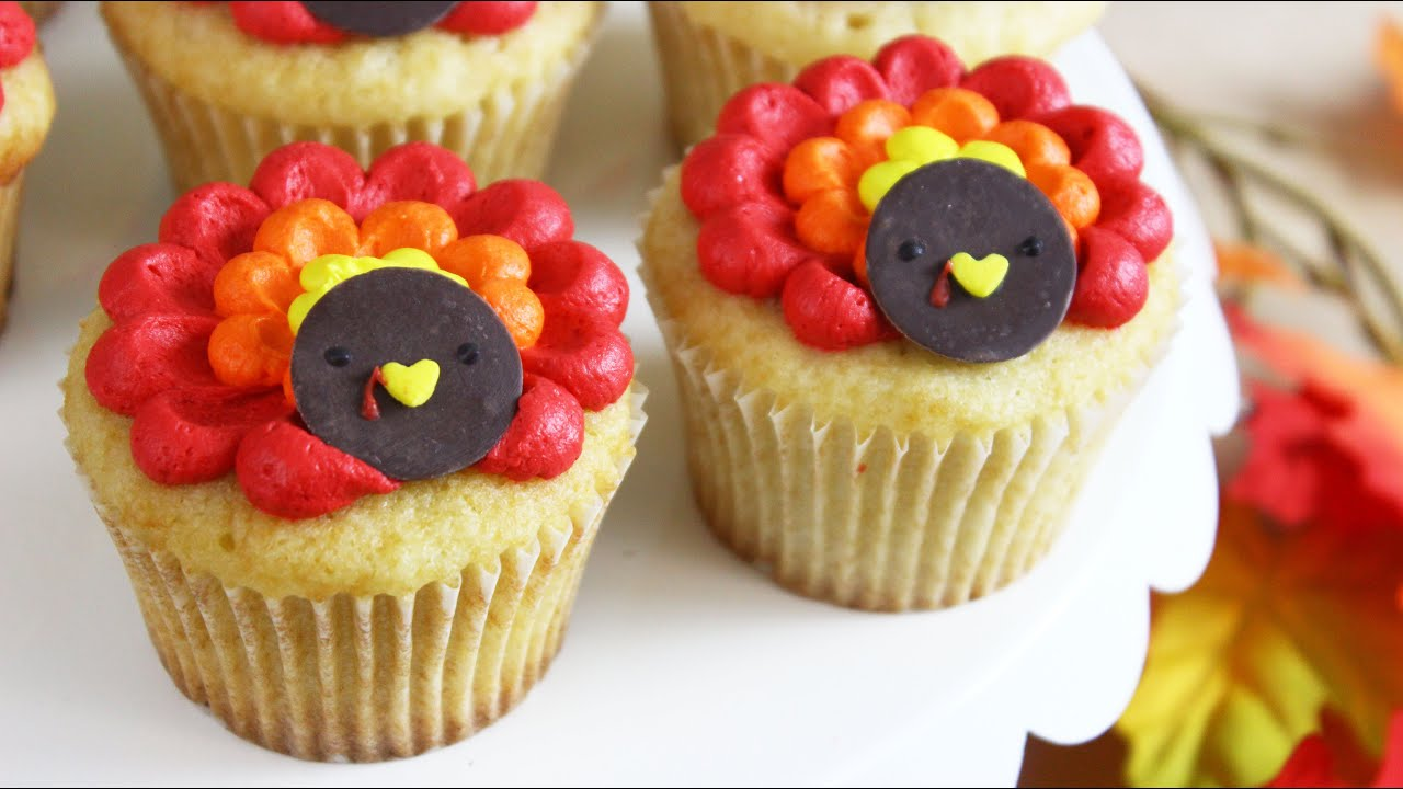 How To Make Thanksgiving Turkey Cupcakes
