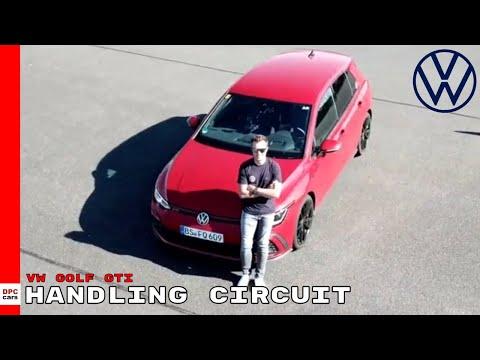 New VW Golf GTI On The Volkswagen Handling Circuit