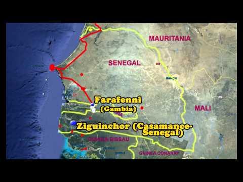 """Guinea Bissau - Viaggio in Camper - Anteprima  - Percorso """"Animato"""""""