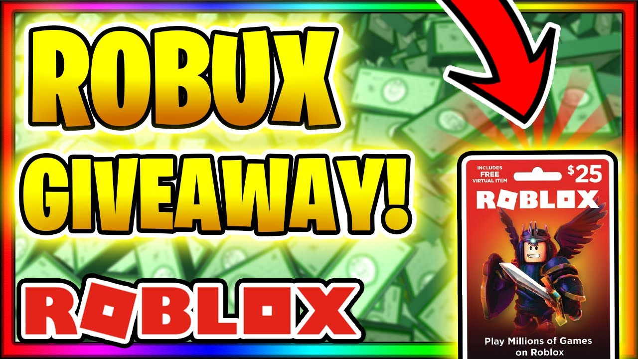 Huge Robux Giveaway Get Free Robux 2019 Youtube
