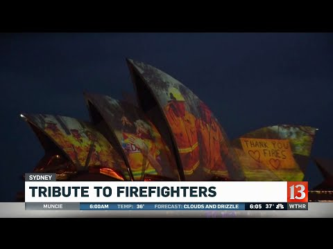 Tim Conway Jr - Sydney Opera House Pays Tribute To Firefighters