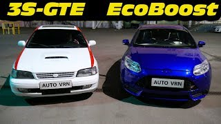 Download Video Toyota Carina E (3S-GTE) vs 2012 Ford Focus ST. Япония или Америка !? MP3 3GP MP4