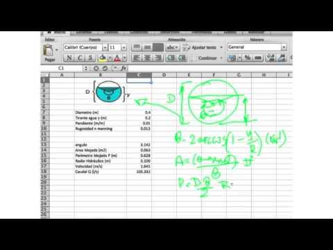 Formula de caudal en tuberías - Excel para calculo de caudal - YouTube