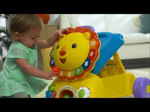 Smyths Toys - Fisher-Price Sit, Stride & Ride Lion