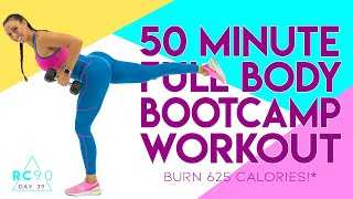 50 Minute Full Body Bootcamp Workout 🔥Burn 625 Calories!* 🔥Sydney Cummings