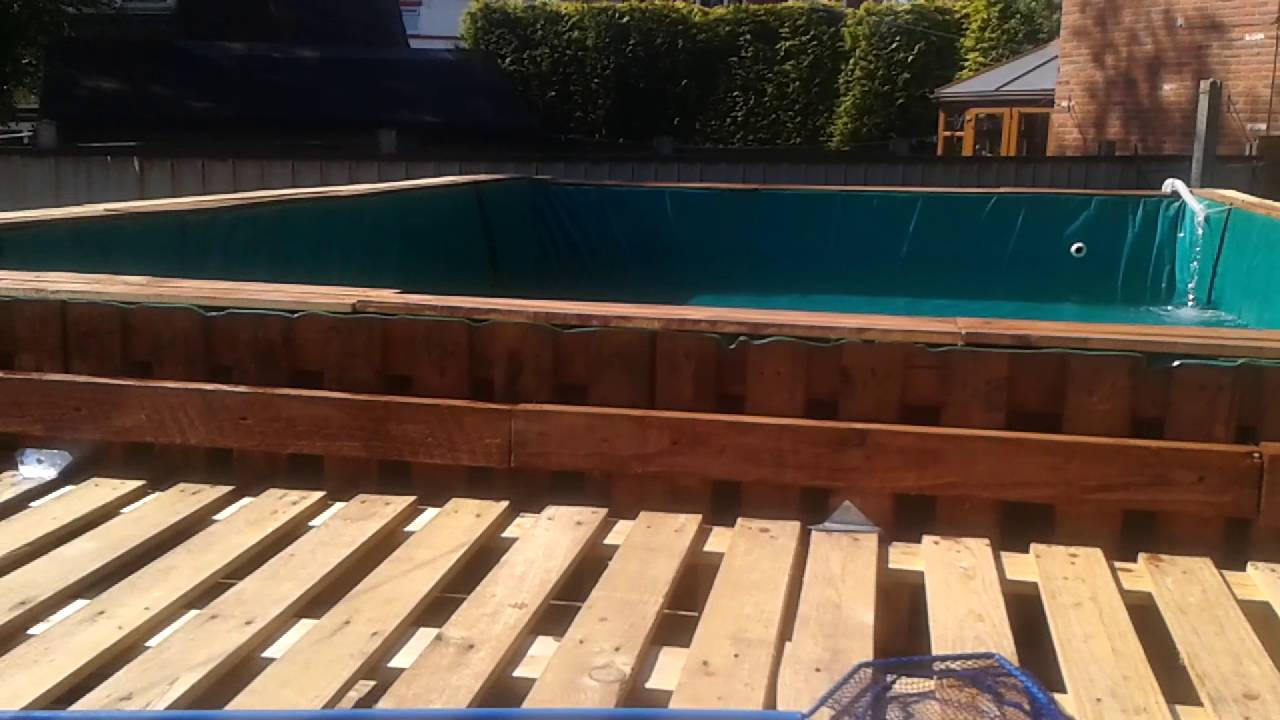 Pool Mit Paletten Pallet Pool Project 1 Youtube