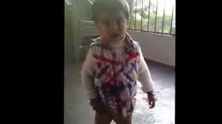 cute indian baby singing and dancing on ding chika funny video