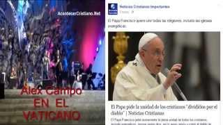 """El Papa pide la unidad de los cristianos """"divididos por el diablo"""""""