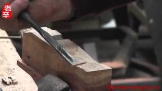 Xin Quansheng's Chines Troditional Wood Tool Making---edge Cut Plane (2)