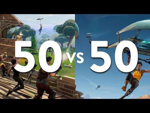 Fortnite | 50 vs 50: ¡Dos ejércitos combatiendo por un primer lugar!