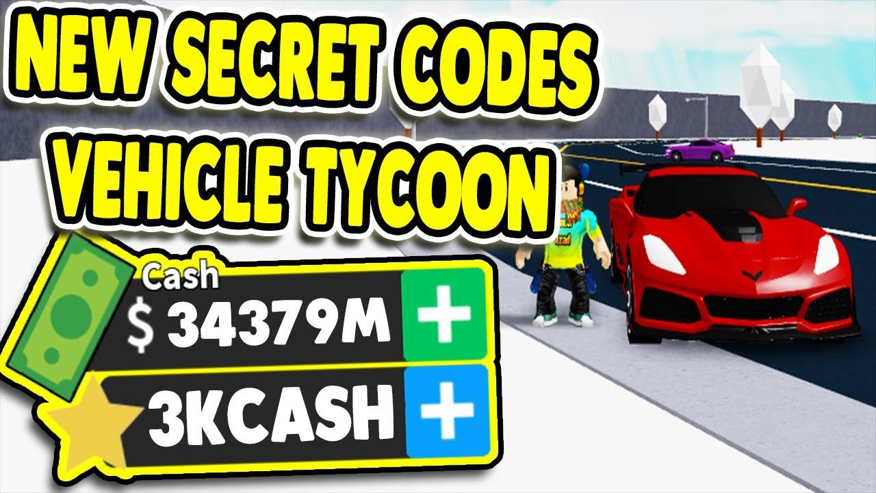 Codigos Para Vehicle Tycoon Roblox 2020