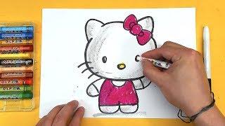 как нарисовать Хелло Китти   Hello Kitty
