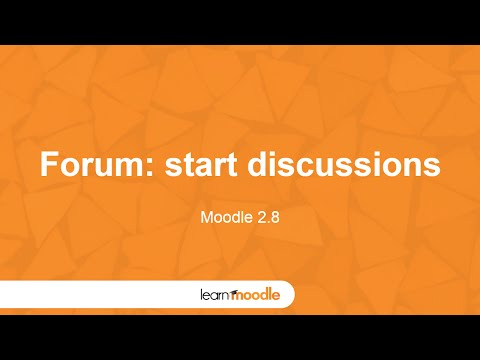 Learn Moodle 2015: Forum Activity