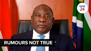 WATCH   Ramaphosa dismisses rumours of a return to lockdown Level 3 as 'simply not true'