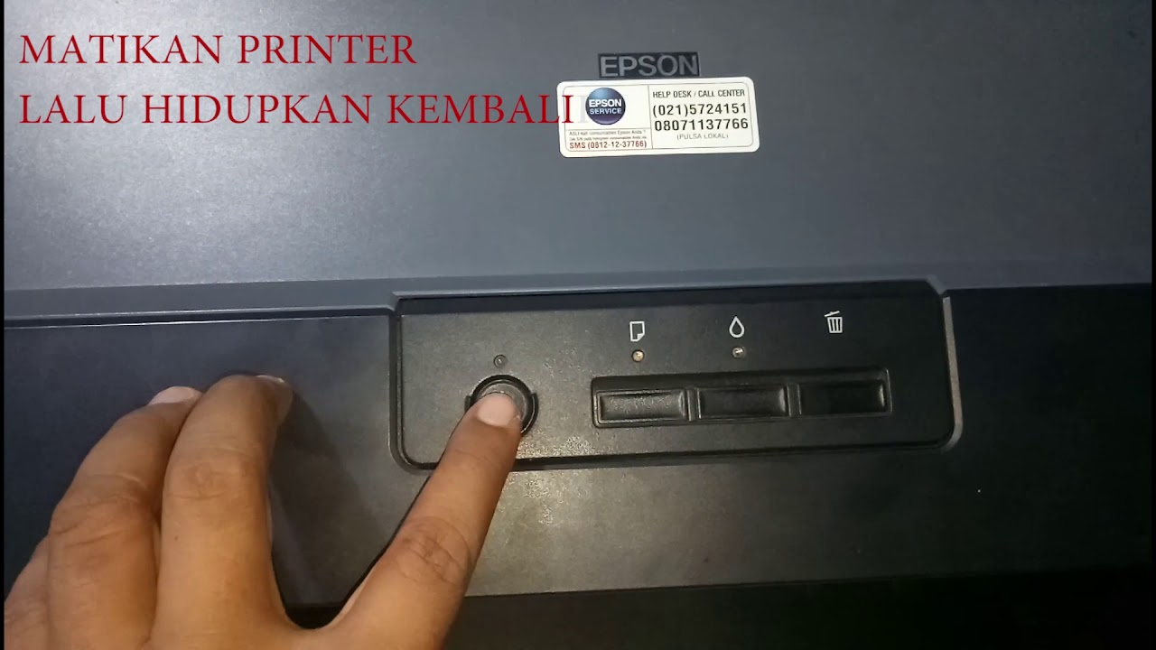 Cara Reset Printer Epson L1300 Youtube