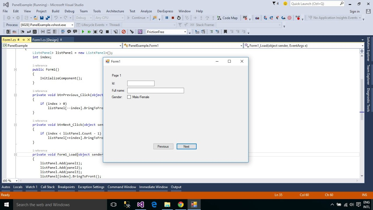 C Tutorial Multiple Pages On The Form Using Panel Control Foxlearn