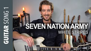 Electric Guitar Lesson 1 - 'Seven Nation Army' White Stripes // Guitar Lesson Tutorial