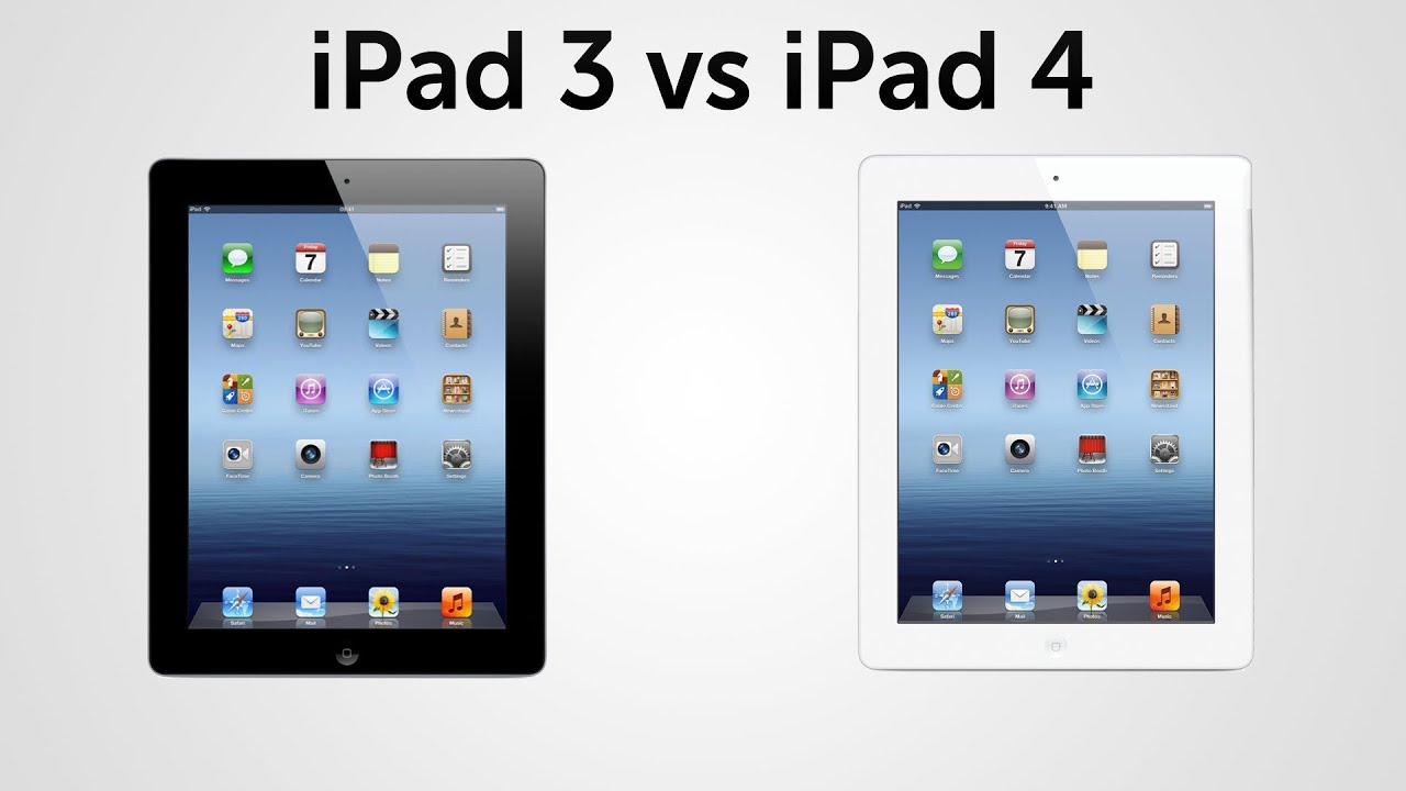 Ipad  4th Gen  Vs Ipad  3rd Gen  Comparison