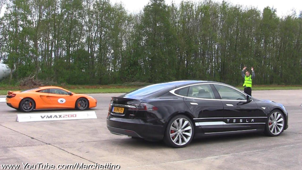 Tesla Races Supercars Ff Turbo F Type R Youtube