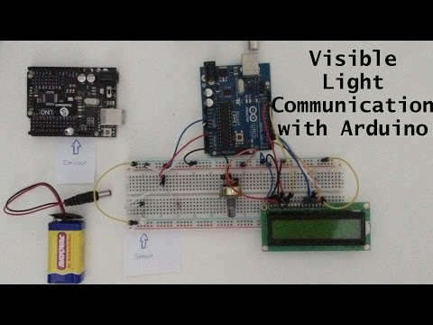 Visible Light Communication (LIFI) with Arduino