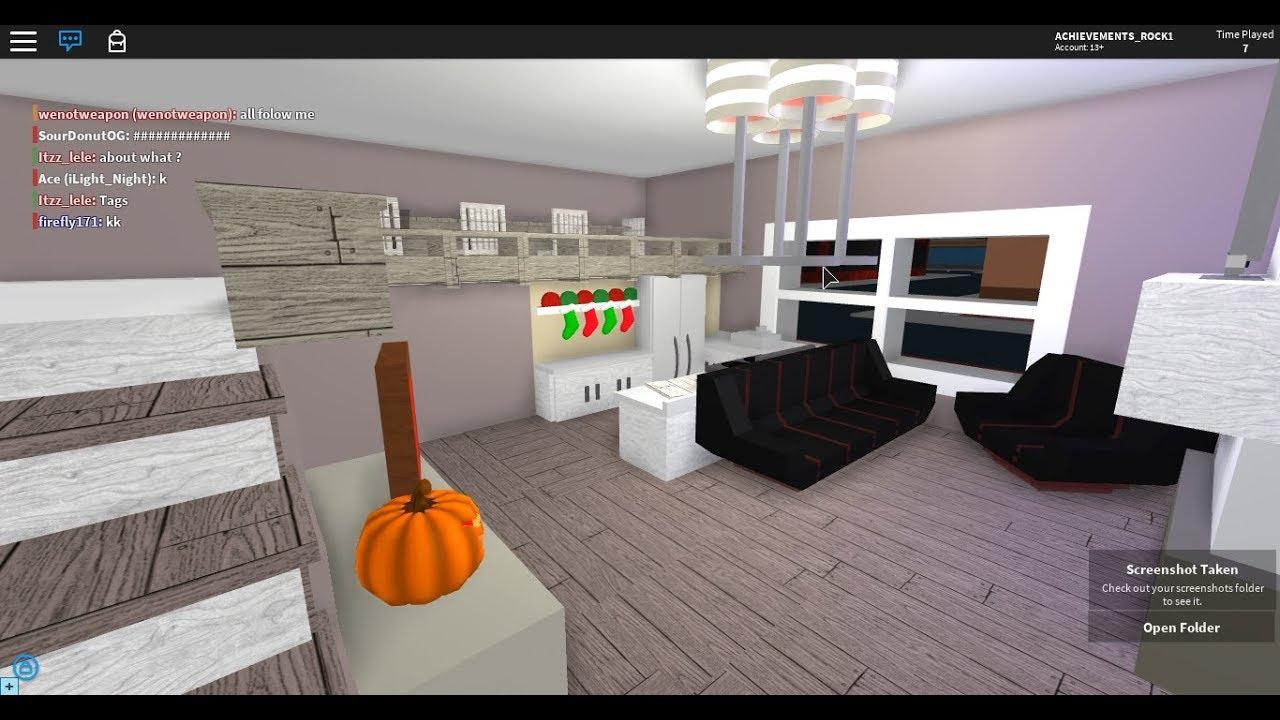 Roblox Room: (Roblox High School Speed Builds) Living Room + Kitchen