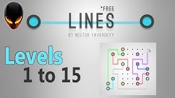 LINES Free by Nestor Yavorskyy: Levels 1 to 15 (Free Puzzle Game)