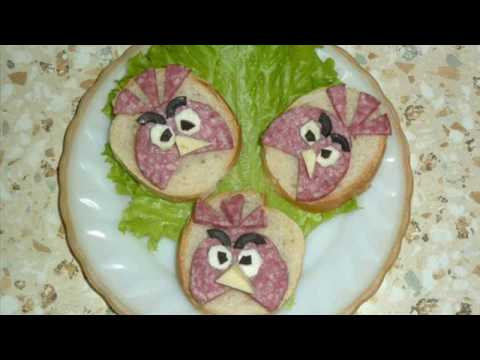 Бутерброды Angry Birds / Angry...