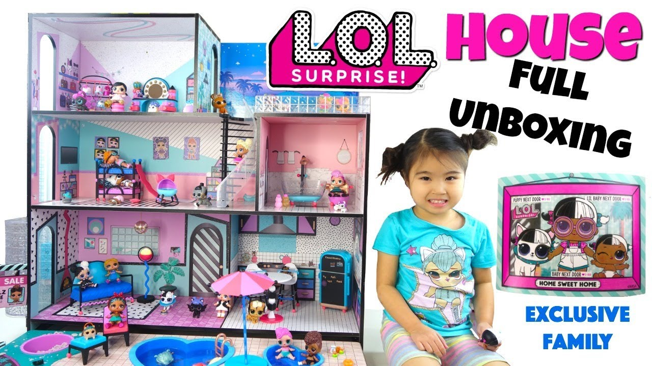 Lol Surprise Doll House Unboxing First Look Grand Tour And Meet