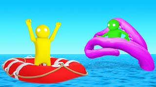 SACRIFICING JELLY To The GIANT SQUID! (Gang Beasts)