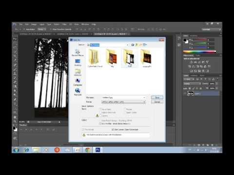 วิธีใส่พื้นหลังภาพขาวดำด้วยPhotoshop cs6