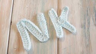 (crochet) How To Crochet Letters K, N - Crochet Extras