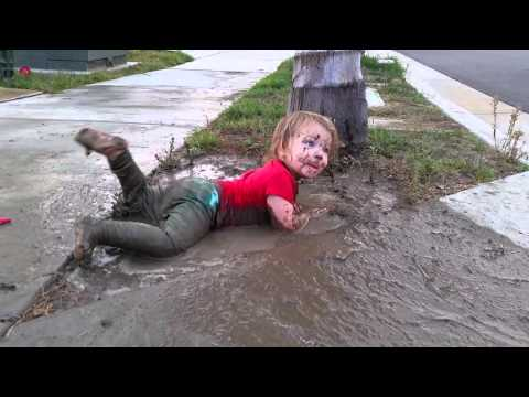Maggie in the mud puddle #1