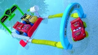 Cars 2 Hydro Wheels Splash Speedway Track World Grand Prix Playset Water Toys Disney Pixar Blutoys