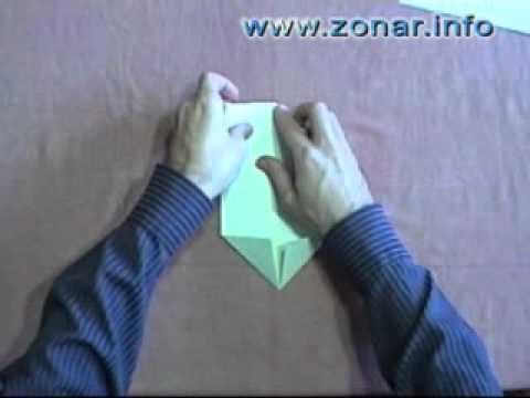 Оригами - Квакающая лягушка