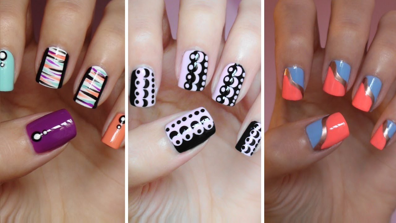 Easy nail art for beginners 7 youtube prinsesfo Images