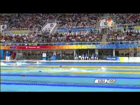 Michael Phelps' 5th Gold - 2008 Beijing Olympics Men's 4x200m Freestyle Relay