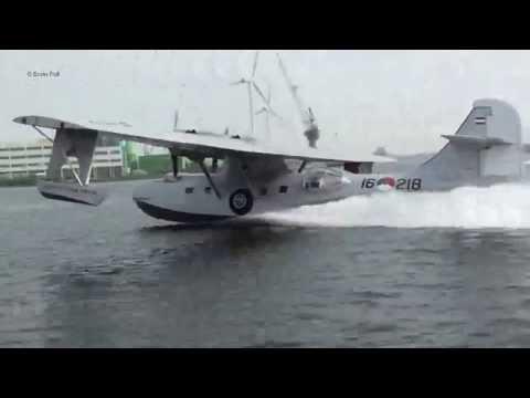 Hembrug Zaanstad Opstijgen Take Off Consolidated PBY-5A Catalina PH-PBY Noordzeekanaal Holland 2015