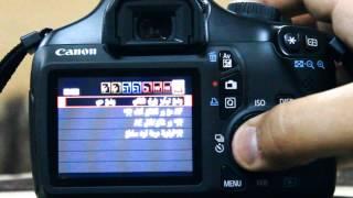ضبط اعدادات كاميرا كانون 1100d