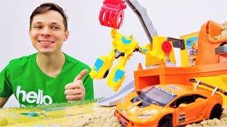 Видео для детей: Федор и Бамблби на раскопках! Игры #трансформеры и машинки.