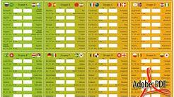 WM 2018: Spielplan als PDF zum Ausdrucken