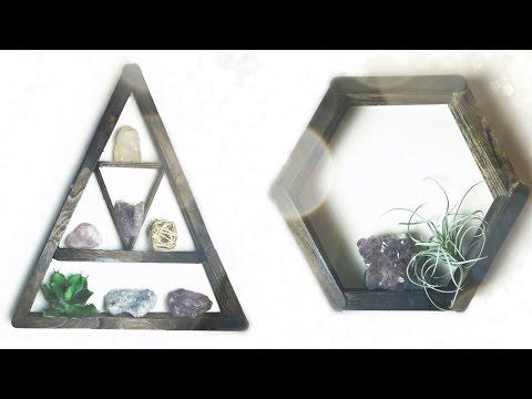 DIY: Triangle/Hexagon Shelf from POPSICLE STICKS