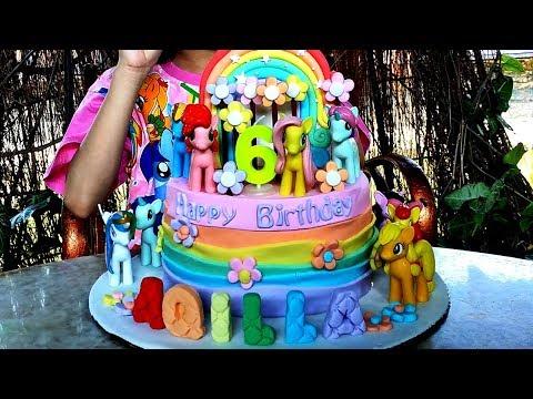 Kue Ulang Tahun My Little Pony ♥ Dapat Kejutan dari Bunda