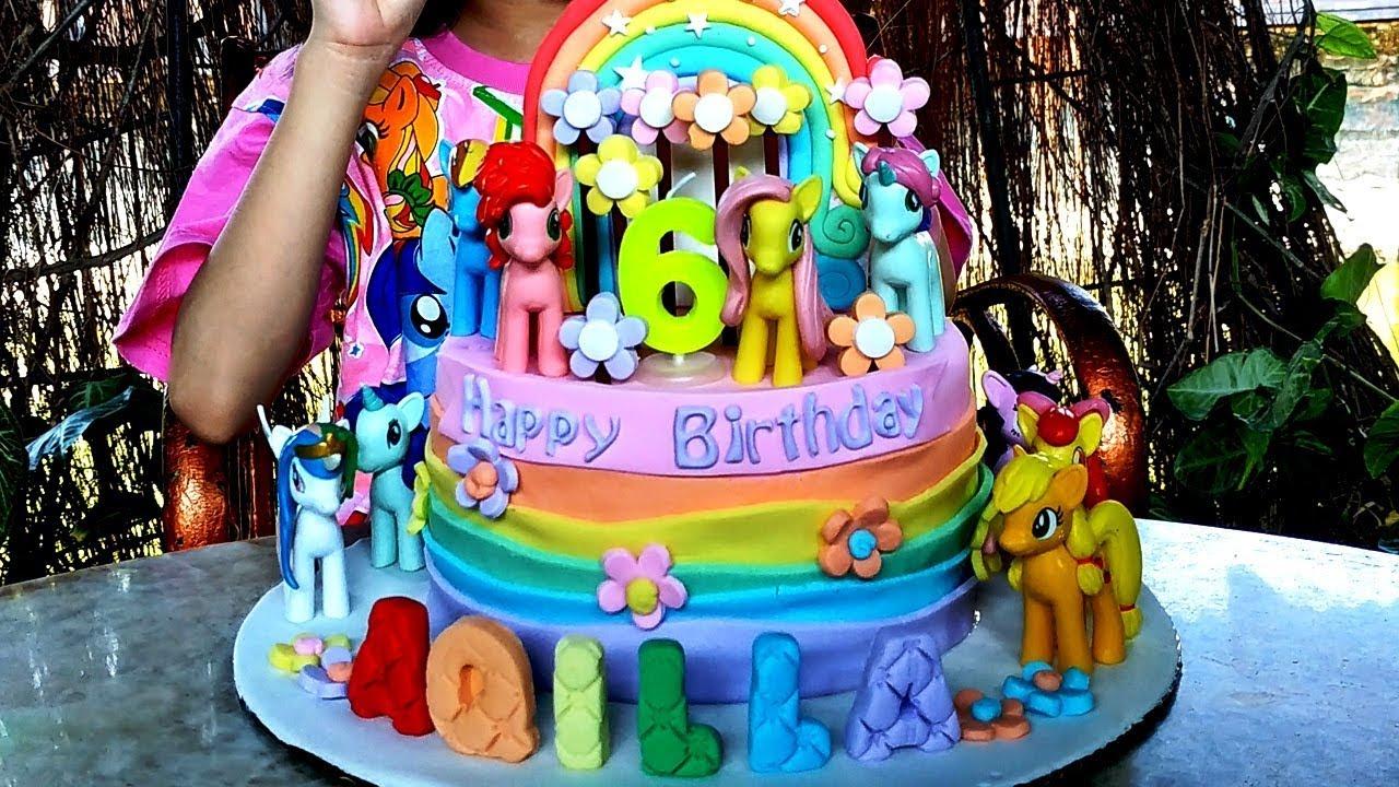 Kue Ulang Tahun My Little Pony Dapat Kejutan Dari Bunda
