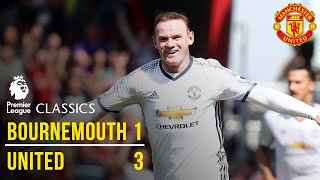 Bournemouth 1-3 manchester united (16/17): premier league classics
