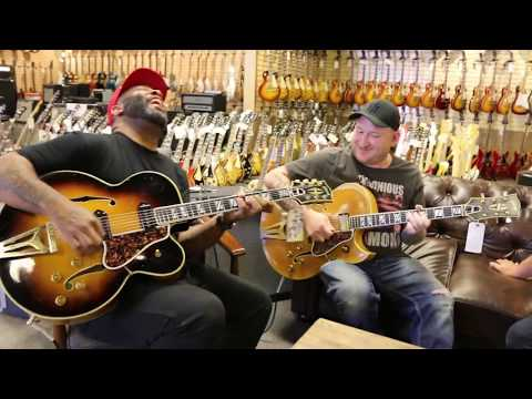 Kirk Fletcher & Josh Smith playing a pair of Gibson Super 400CES